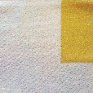 medidum holo argent - tissu hologramme - macasports