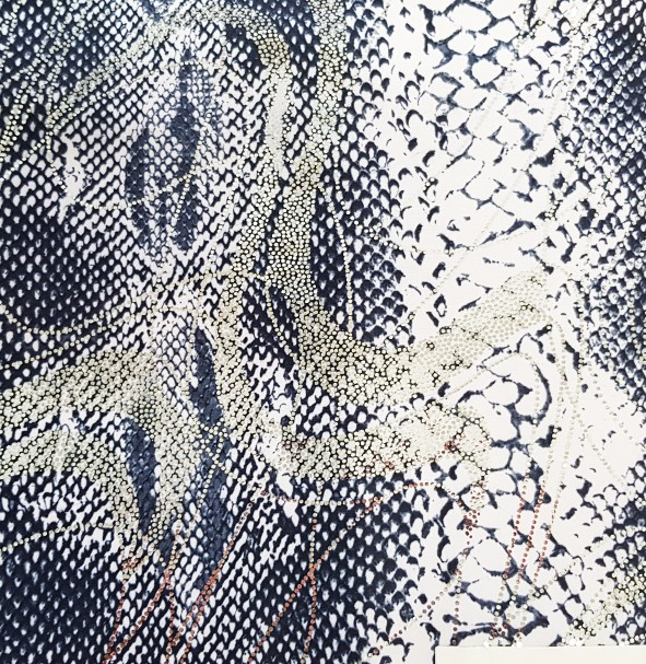 guttata - tissu imprimé effet peau de serpent