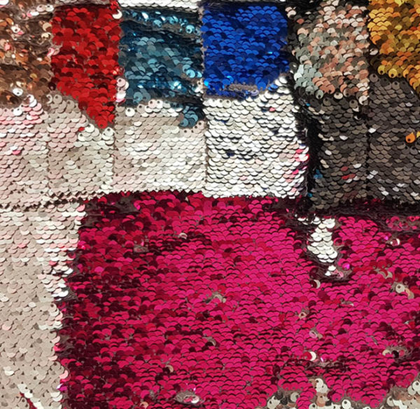 Tissu spectacle- sequins reversibles - macasports