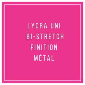 Lycra uni bi-stretch finition métal